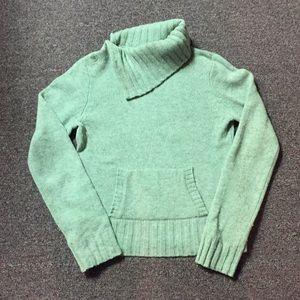 Seafoam green J.Crew turtleneck sweater